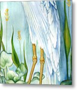 Majestic White Heron Metal Print by Lyse Anthony