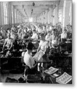 Making Money At The Bureau Of Printing And Engraving - Washington Dc - C 1916 Metal Print by International  Images