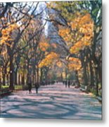 Mall Central Park New York City Metal Print by George Zucconi
