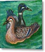 Mallard Ducks Metal Print by Anna Folkartanna Maciejewska-Dyba