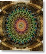 Mandala Armenian Alphabet Metal Print by Bedros Awak