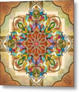 Mandala Birds Metal Print by Bedros Awak