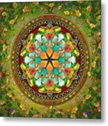 Mandala Evergreen Metal Print by Bedros Awak