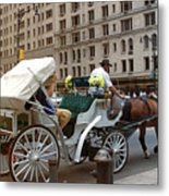 Manhattan Buggy Ride Metal Print by Madeline Ellis