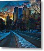 Manhattan Sunset Metal Print by Chris Lord