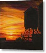 Manhattan Sunset Metal Print by Christopher Oakley