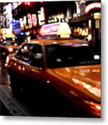 Manhattan Taxis Metal Print by Jose Roldan Rendon