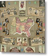 Map: Confederate States Metal Print by Granger