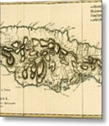 Map Of Jamaica Metal Print by Guillaume Raynal