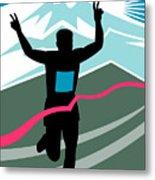 Marathon Race Victory Metal Print by Aloysius Patrimonio