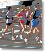 Marathon Runners II Metal Print by Clarence Holmes