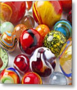 Marbles Close Up Metal Print by Garry Gay