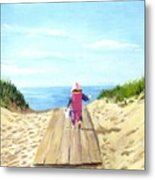 March To The Beach Metal Print by Jack Skinner