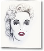 Marilyn Monroe Metal Print by Devaron Jeffery