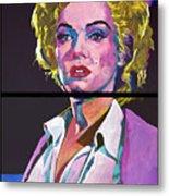 Marilyn Monroe Dyptich Metal Print by David Lloyd Glover