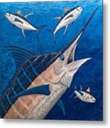 Marlin And Ahi Metal Print by Carol Lynne