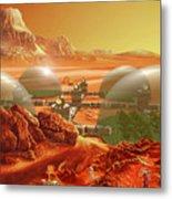Mars Colony Metal Print by Don Dixon