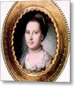 Martha Washington 1731-1802, First Lady Metal Print by Everett