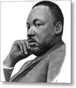Martin Luther King Jr Metal Print by Charles Vogan