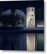 Martin Luther King Jr Memorial Overlooking The Tidal Basin - Washington Dc Metal Print by Brendan Reals
