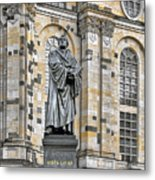 Martin Luther Monument Dresden Metal Print by Christine Till