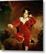 Master Charles William Lambton Metal Print by Sir Thomas Lawrence