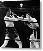 Max Schmeling Fights Joe Louis Metal Print by Everett