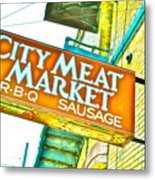Meat On The Market Metal Print by Chuck Taylor