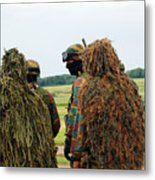 Members Of The Special Forces Group Metal Print by Luc De Jaeger