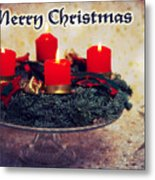Merry Christmas Metal Print by Angela Doelling AD DESIGN Photo and PhotoArt