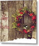 Merry Christmas. Metal Print by Kelly Nelson