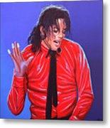 Michael Jackson 2 Metal Print by Paul Meijering