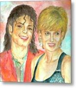 Michael Jackson And Princess Diana Metal Print by Nicole Wang