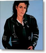 Michael Jackson Bad Metal Print by Paul Meijering