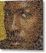 Michael Jordan Money Mosaic Metal Print by Paul Van Scott