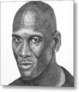 Michael Jordan Metal Print by Randy Reed