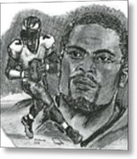 Michael Vick Metal Print by Chris  DelVecchio