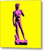 Michelangelos David - Punk Style Metal Print by Pixel Chimp