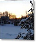 Mid January Winter Sunrise Metal Print by Kent Lorentzen