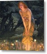 Midsummer Eve Metal Print by Edward Robert Hughes