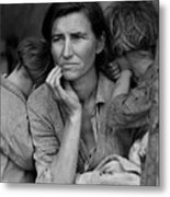 Migrant Mother, Portrait Of Florence Metal Print by Everett