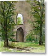 Mission Wall Metal Print by Arline Wagner