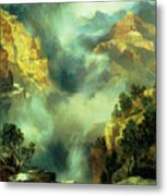Mist In The Canyon Metal Print by Thomas Moran