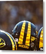 Mizzou Football Helmet Metal Print by Replay Photos