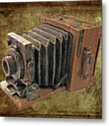 Model Vintage Field Camera Metal Print by Kenneth William Caleno