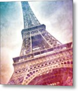 Modern-art Eiffel Tower 21 Metal Print by Melanie Viola