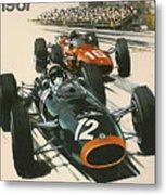 Monaco Grand Prix 1967 Metal Print by Georgia Fowler