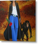 Monkeys Best Friend Metal Print by Lance Headlee