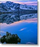 Mono Lake Twilight Metal Print by Inge Johnsson