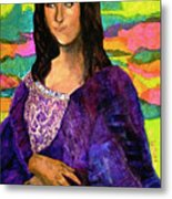 Montage Mona Lisa Metal Print by Laura  Grisham